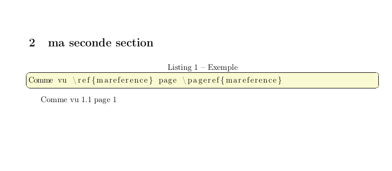 latex refer to section
